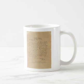President Abraham Lincoln's Letter to Mrs. Bixby Classic White Coffee Mug