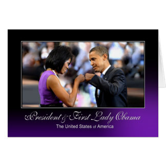 President and First Lady Obama (Fist Bump) Greeting Card