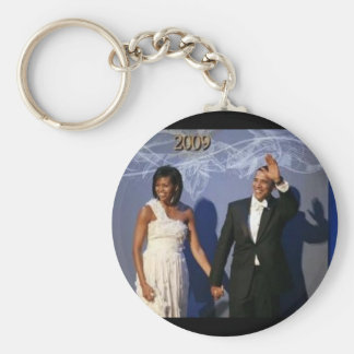 President and First Lady Obama Inauguration Ball Basic Round Button Key Ring