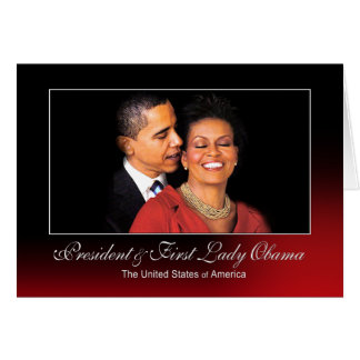 President and First Lady Obama (The Whisper) Greeting Card