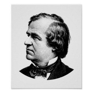 President Andrew Johnson Graphic Poster