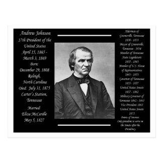 President Andrew Johnson Postcard