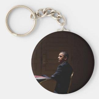 President Barack Obama 12 Basic Round Button Key Ring