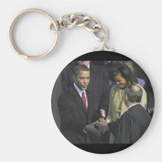 President Barack Obama 2009 Inauguration Basic Round Button Key Ring