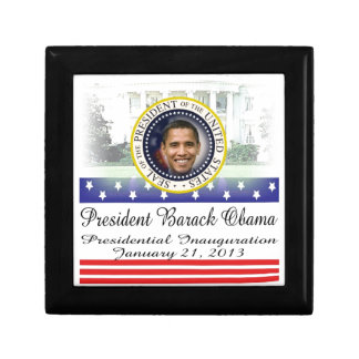 President Barack Obama 2013 Inauguration Small Square Gift Box