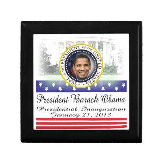 President Barack Obama 2013 Inauguration Small Square Gift Box