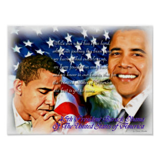 President Barack Obama,45th Pres_Poster Poster