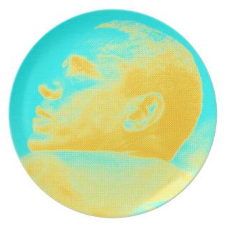 President Barack Obama 4 sketch Plate