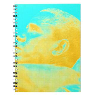 President Barack Obama 4 sketch Spiral Notebook