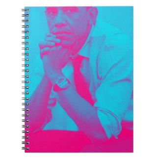 President Barack Obama 8a Spiral Notebook
