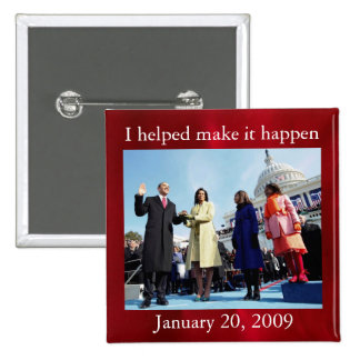 President Barack Obama and First Lady 15 Cm Square Badge