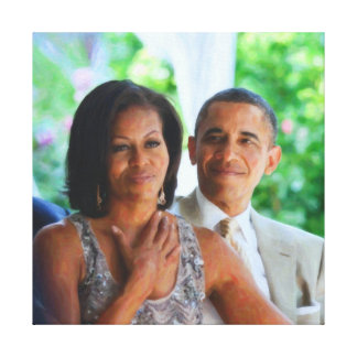 President Barack Obama and First Lady Canvas Print
