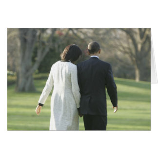 President Barack Obama and First Lady Michelle Greeting Cards