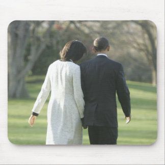 President Barack Obama and First Lady Michelle Mouse Pad