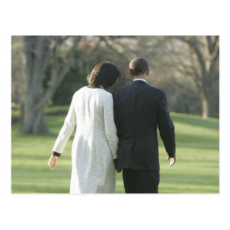 President Barack Obama and First Lady Michelle Postcard