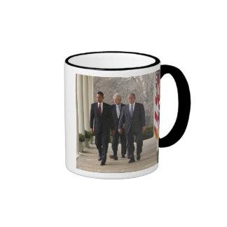 President Barack Obama and former presidents Ringer Mug