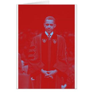 President Barack Obama at Notre Dame University 2. Card