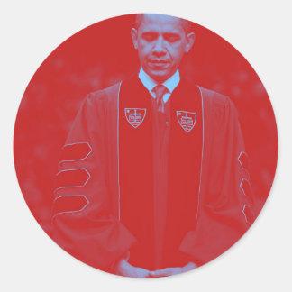 President Barack Obama at Notre Dame University 2. Classic Round Sticker