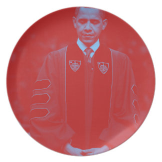 President Barack Obama at Notre Dame University 2. Plate