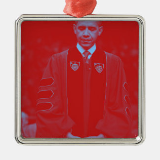 President Barack Obama at Notre Dame University 2. Silver-Colored Square Decoration