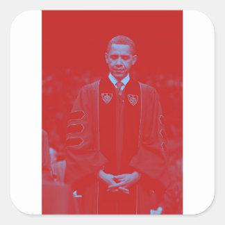 President Barack Obama at Notre Dame University 2. Square Sticker