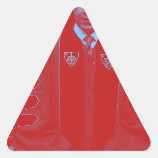 President Barack Obama at Notre Dame University 2. Triangle Sticker