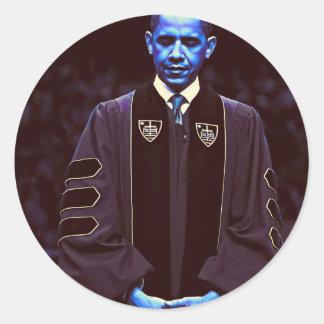 President Barack Obama at Notre Dame University 3. Classic Round Sticker