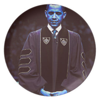 President Barack Obama at Notre Dame University 3. Plate