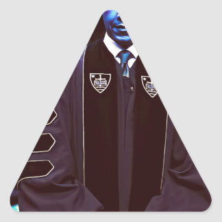President Barack Obama at Notre Dame University 3. Triangle Sticker