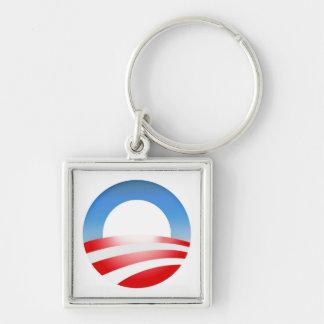 President Barack Obama campaign 2012 Silver-Colored Square Key Ring