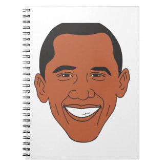 President Barack Obama Cartoon Face Note Book