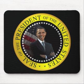 President Barack Obama Custom Mousepad  Black Gold