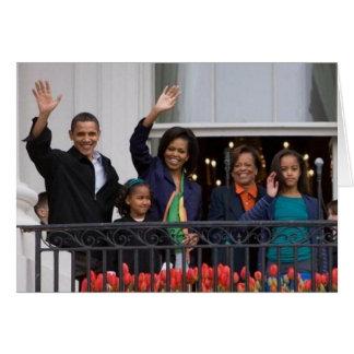 President Barack Obama & Family Card
