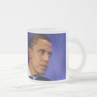 President Barack Obama Frosted Glass Coffee Mug