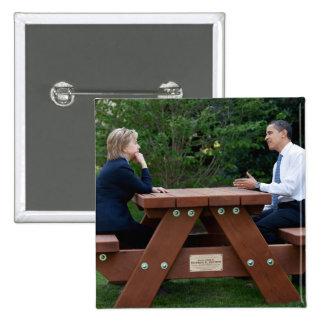 President Barack Obama Hillary Clinton Button