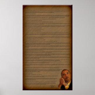 President Barack Obama Inauguration Address Poster