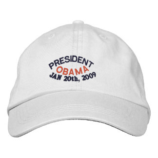 PRESIDENT BARACK OBAMA INAUGURATION EMBROIDERED HAT