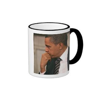 President Barack Obama meets with President Ringer Mug