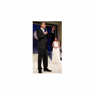 President Barack Obama & Michelle Standing Photo Sculpture
