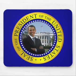 President Barack Obama Mousepad - Blue