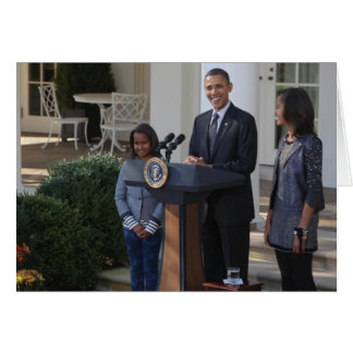 President Barack Obama pardons the Card