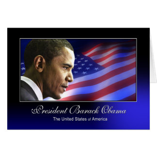 President Barack Obama (Patriotic) Greeting Card