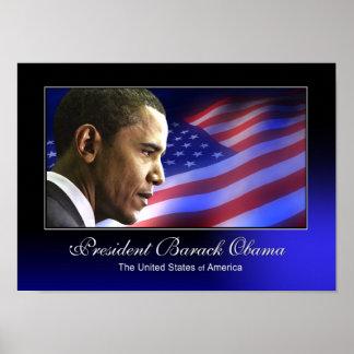 President Barack Obama (Patriotic) Poster
