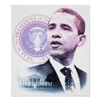 President Barack Obama Portrait Poster