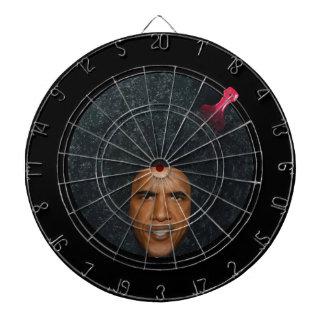 "President Barack Obama ""Profile"" Bullseye Dartboard With Darts"