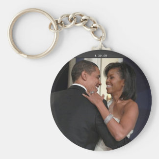 President Barack Obama & the 1st L... - Customized Key Ring
