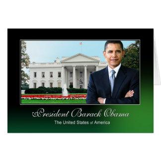 President Barack Obama (White House) Greeting Card
