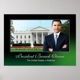 President Barack Obama (white house) Poster