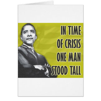 President Barack Obama Yellow Greeting Card