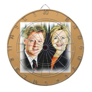 President Bill Clinton & President Hillary Clinton Dartboard